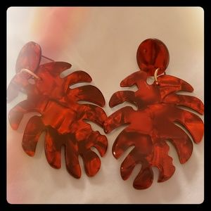 Brand new acrylic palm earrings